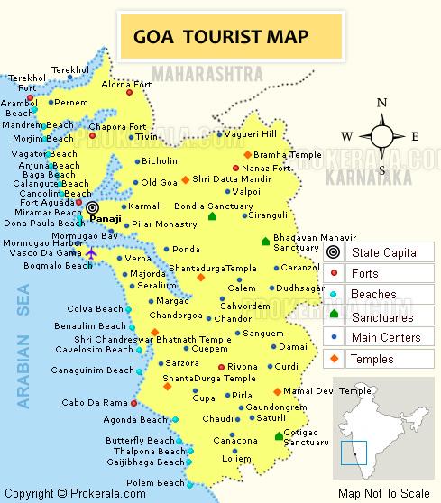 goa tourism map