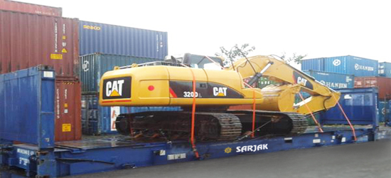 open top platform flatrack container transportation service