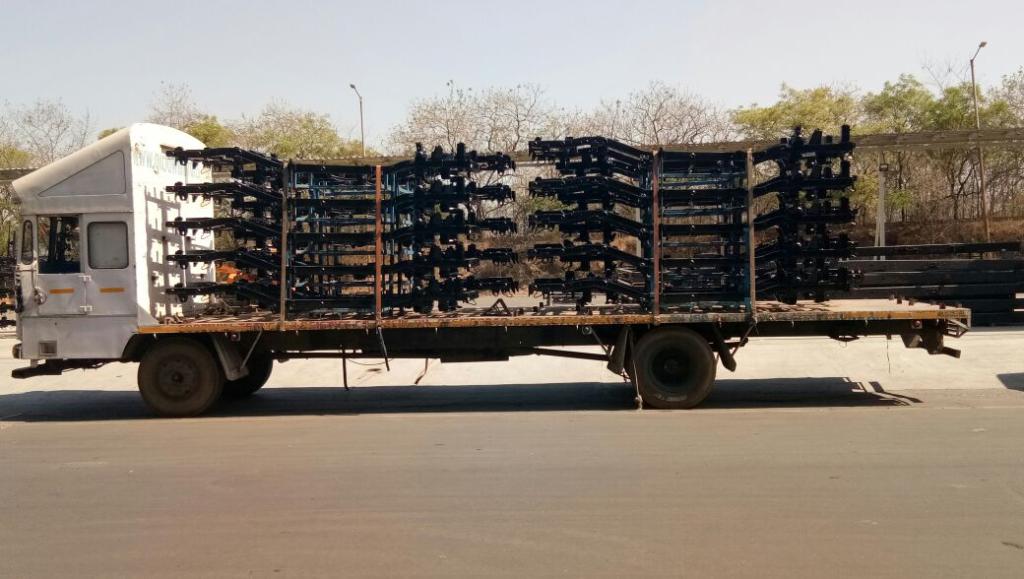 JCB types of platform lorry truck transportation service india
